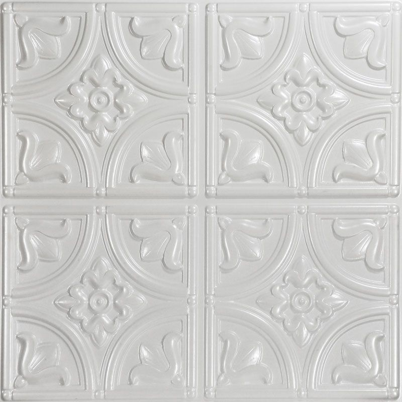 Decorative Tin Tiles Tiny Tulips  Faux Tin Ceiling Tile  Ceiling Tile Ideas