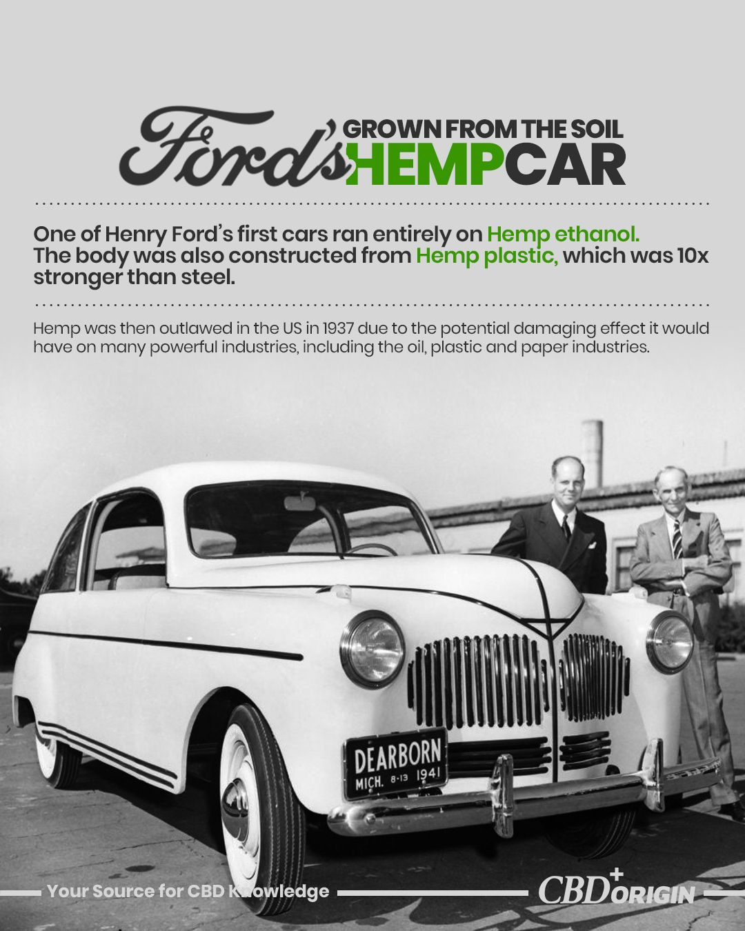 Ford S Hemp Car That Never Reached Production Car Facts Hemp
