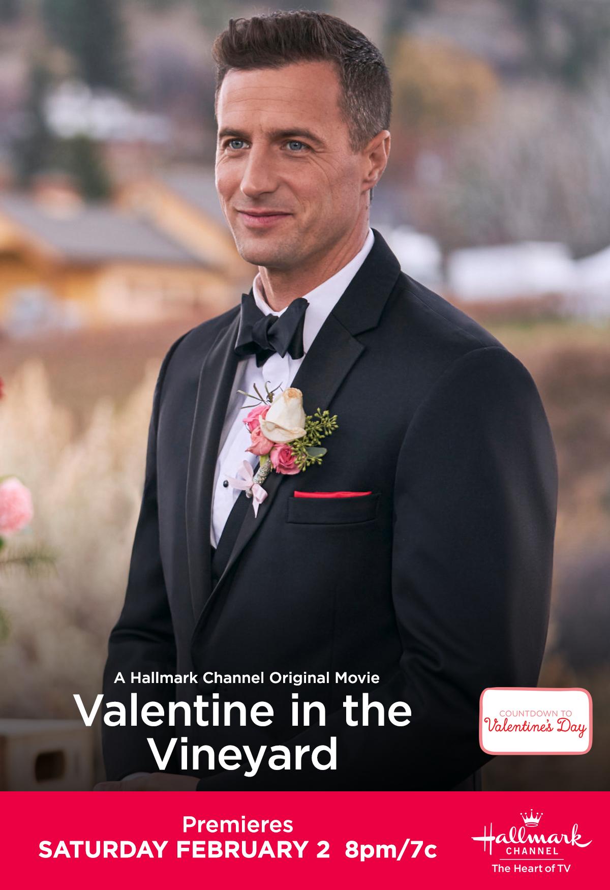Nate Chesapeake Shores Brendan Penny Looks Dapper In Valentine In The Vineyard Make A Date With The First Count Hallmark Channel Hallmark Movies Hallmark
