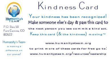 Pay kindness forward!