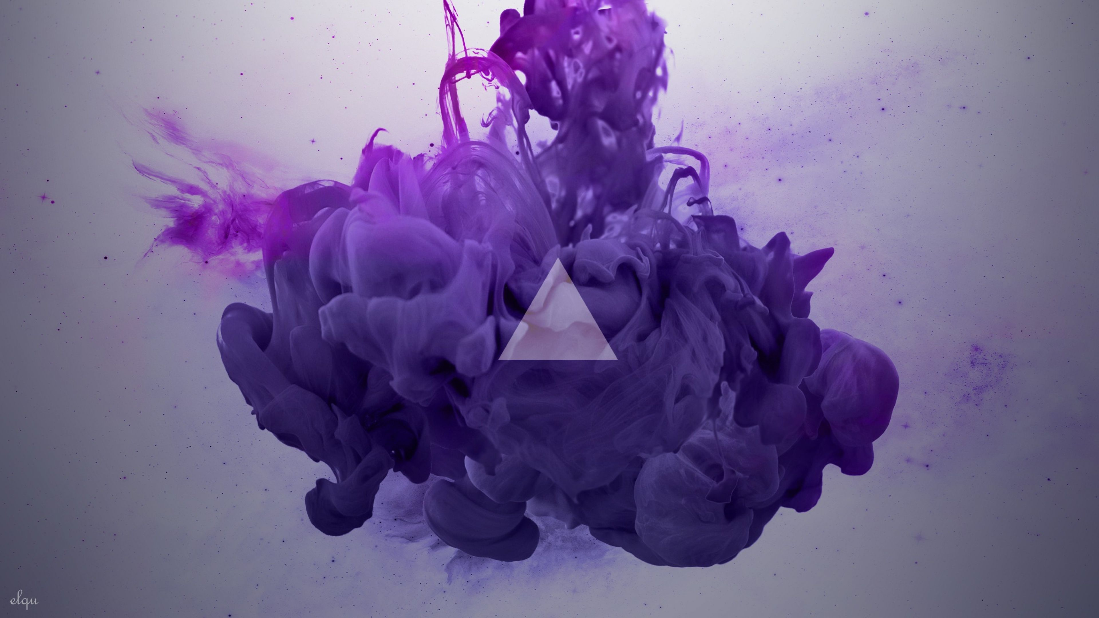 3840x2160 Wallpaper Smoke Triangle Lilac In 2019 Smoke