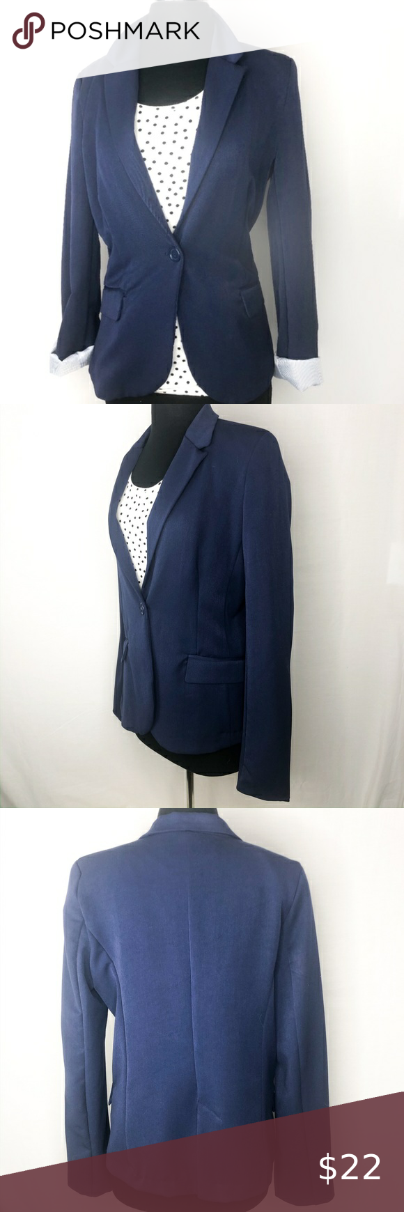 Spotted while shopping on Poshmark: Ambiance Royal Blue Single Button Padded Blazer! #poshmark #fashion #shopping #style #Ambiance #Jackets & Blazers