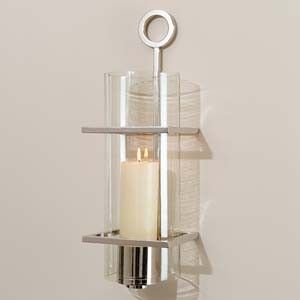 Polished Nickel Wall Sconce contemporary | Candle holder ...