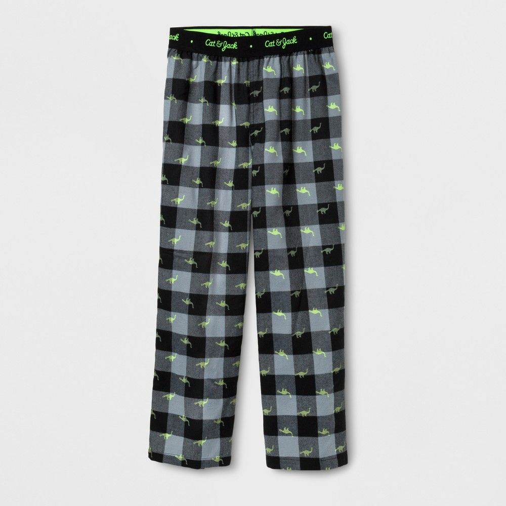 Red flannel pajama pants  Boysu Dino Plaid Pants Sleep Pants  Cat u Jack Black M  Jack black