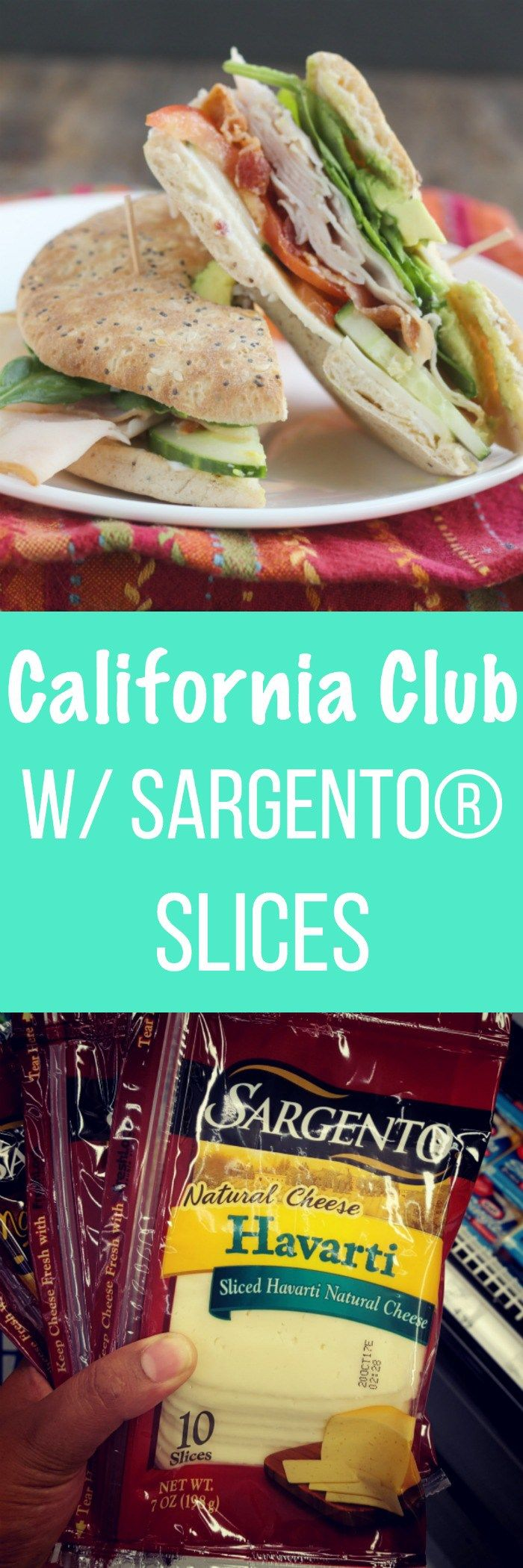 Simple sandwiches are the perfect snack or lunch during the summer...and the kids can help make them! This Cali Club with Sargento Havarti cheese is perfect! #AD via @DashOfEvans   #SargentoAtMeijer #IC