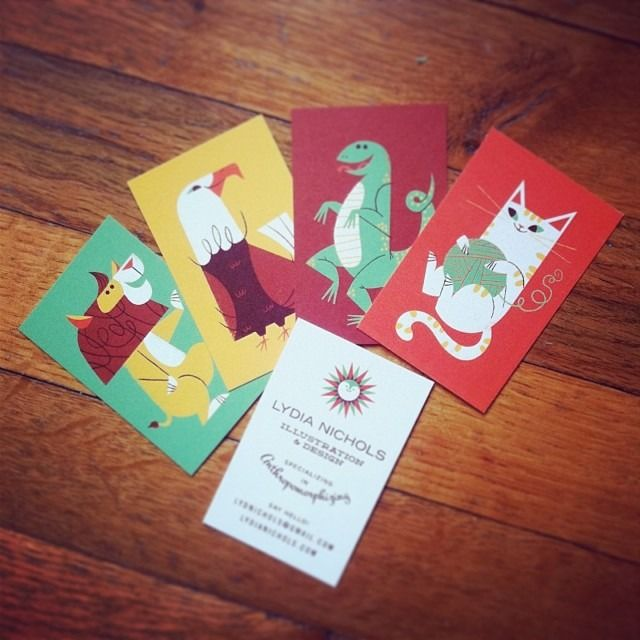 """new business cards are here! """"specializing in anthropomorphizing"""""""
