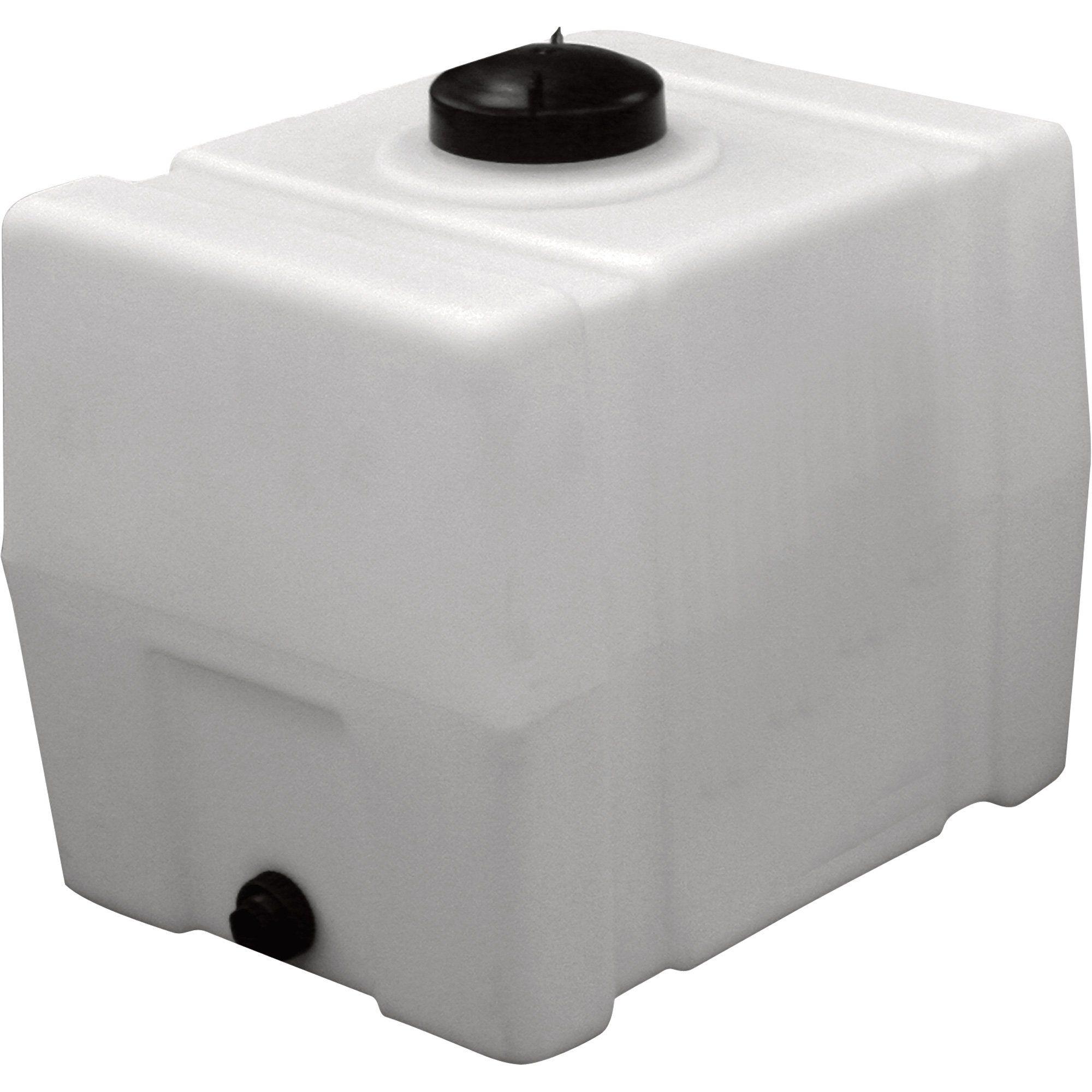 Romotech Poly Storage Tank Square 50 Gallon Capacity Model 2391 Storage Tank Storage Tanks Water Storage