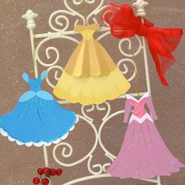 Princess Dress Cut Outs Actually Ornament Templates But Could Be Used For Part Of The