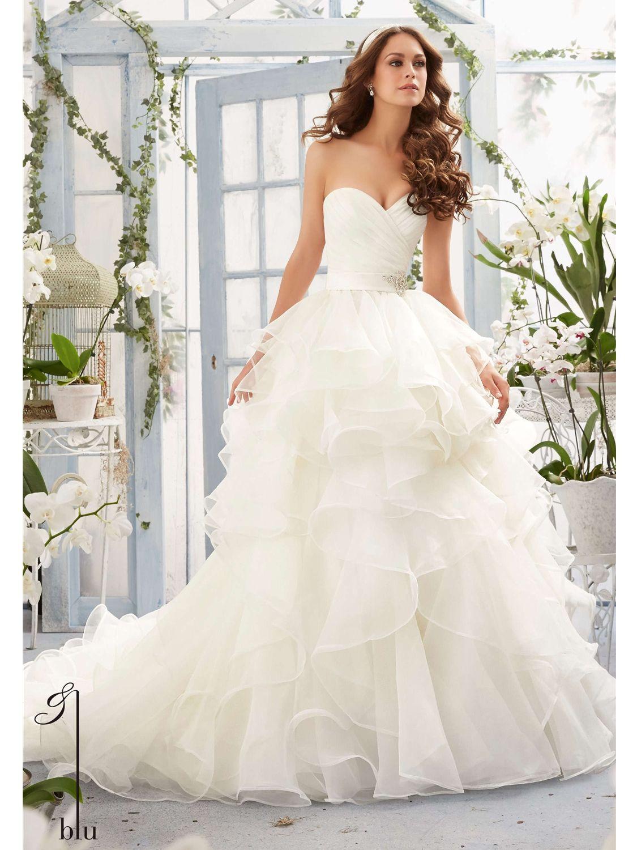 Strapless and backless wedding dress  Blu by Mori Lee  Wedding Dress Style No  Wedding wardrobe