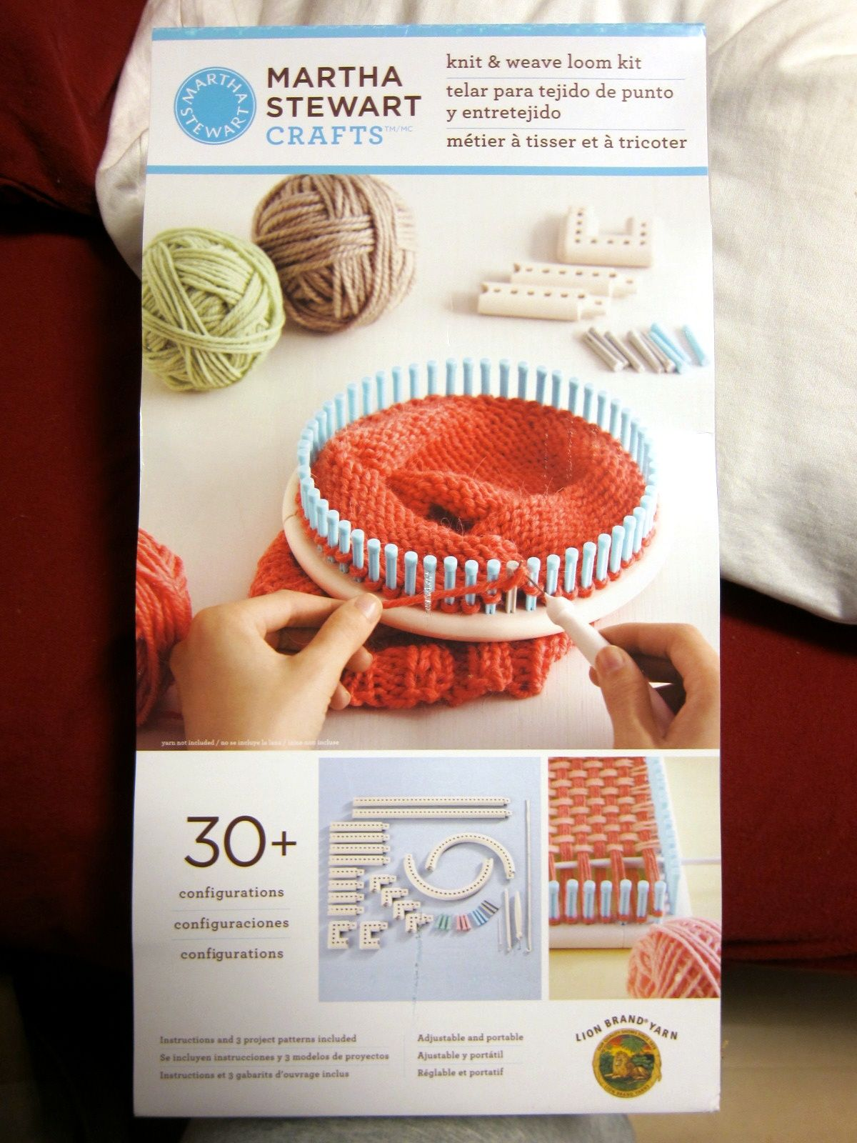 martha stewart knitting loom patterns. I just got this and love it ...