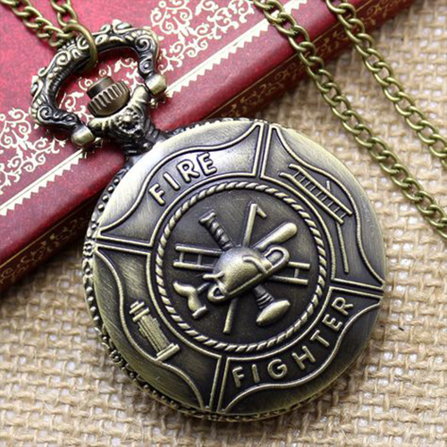 Firefighter Pocket Watch Pocket watch necklace, Watch