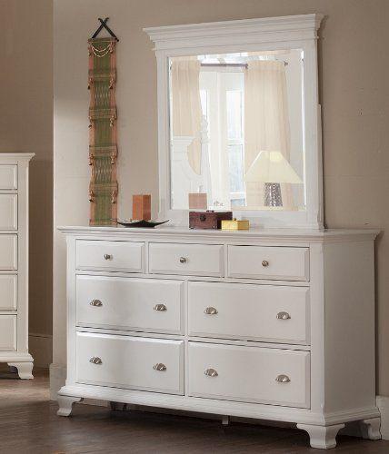 Best Roundhill Furniture Laveno 012 White Wood 7 Drawer Dresser And Mirror Roundhill Furniture Http 400 x 300