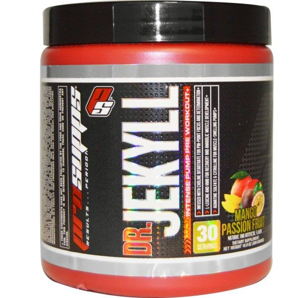 Prosupps Dr Jekyll Intense Pump Pre Workout Mango Passion Fruit 10 9 Oz 309 G Pump Pre Workout Preworkout Workout
