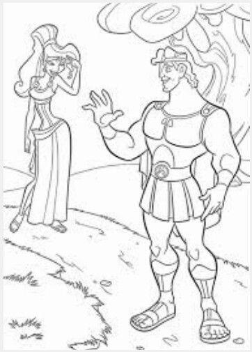 Meg and hercules coloring sheet   Greek Mythology (Hercules)   Pinterest