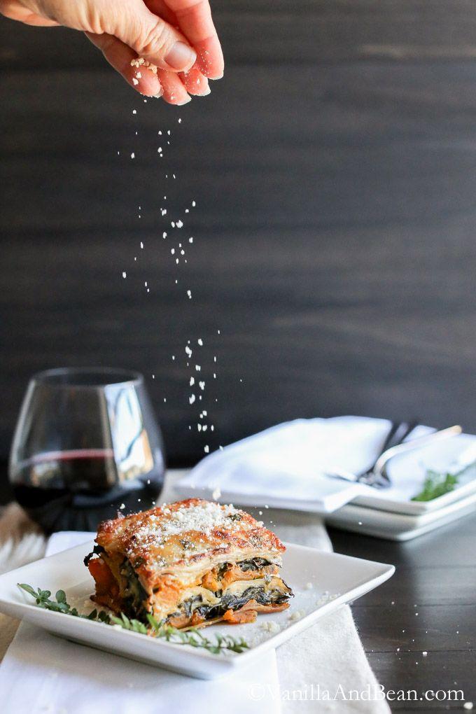 Roasted Butternut Squash and Kale Lasagna | Vanilla And Bean