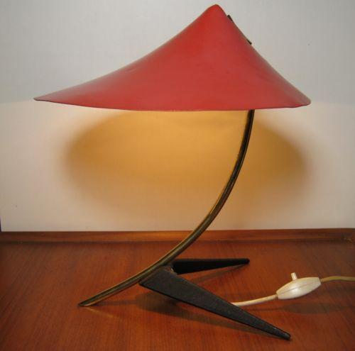 Seltene 50er Louis Kalff Kraehenfuss Tischlampe Original Zustand