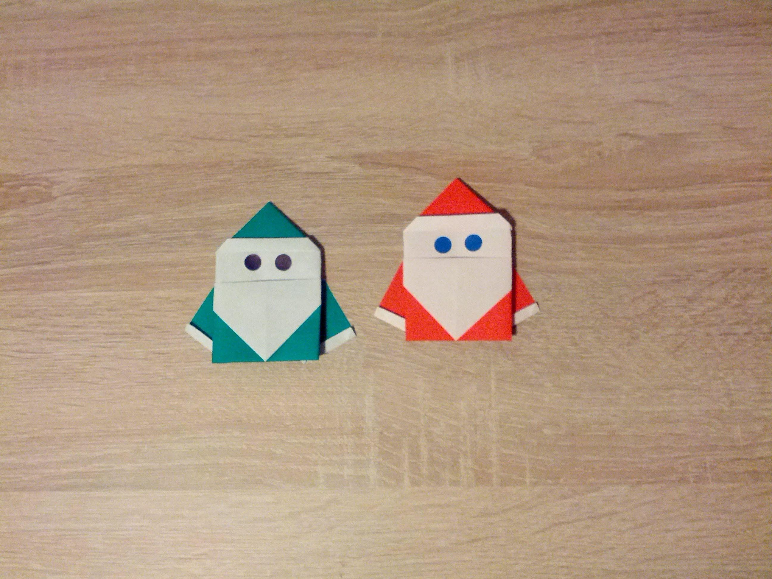 Origami tutorial santa claus model 4 origami tutorial santa claus model 4 jeuxipadfo Image collections