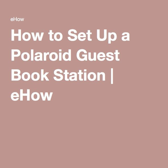 Polaroid Guest Book Station