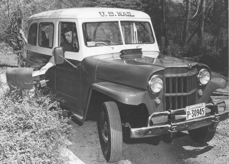 Jeep, 1950s Jeeps were used for mail delivery by rural
