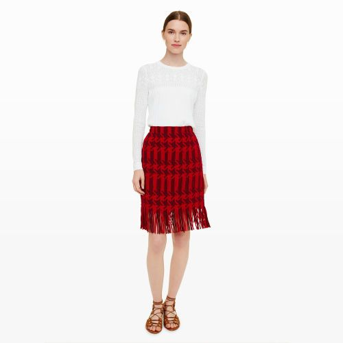 Womens | Tunine Fringe Skirt | Club Monaco Canada
