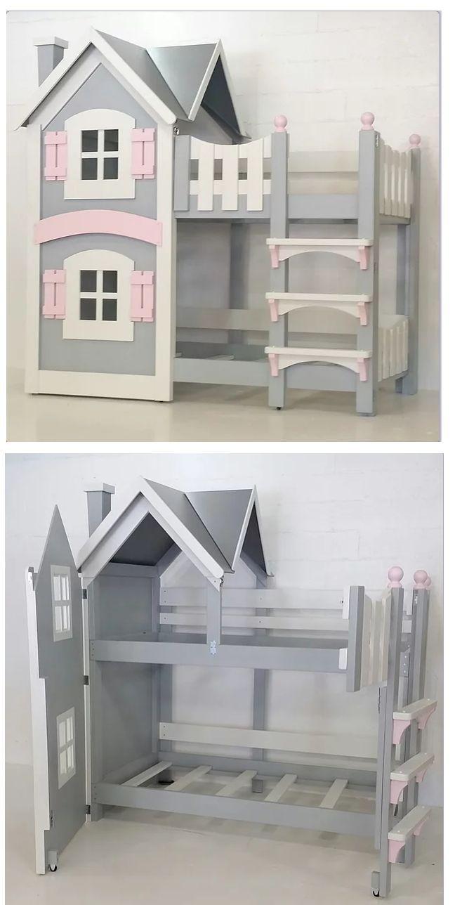 Unsere Puppenstubenbetten sind das Zeug, aus dem Märchen gemacht sind und die schön wären #kleinkindzimmer