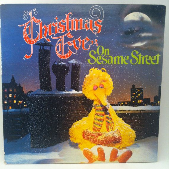 Christmas Eve On Sesame Street Vinyl Record Lp 1980 Jim Henson Frank Oz The Muppets Childrens Television Sesame Street Christmas Sesame Street Christmas Memory