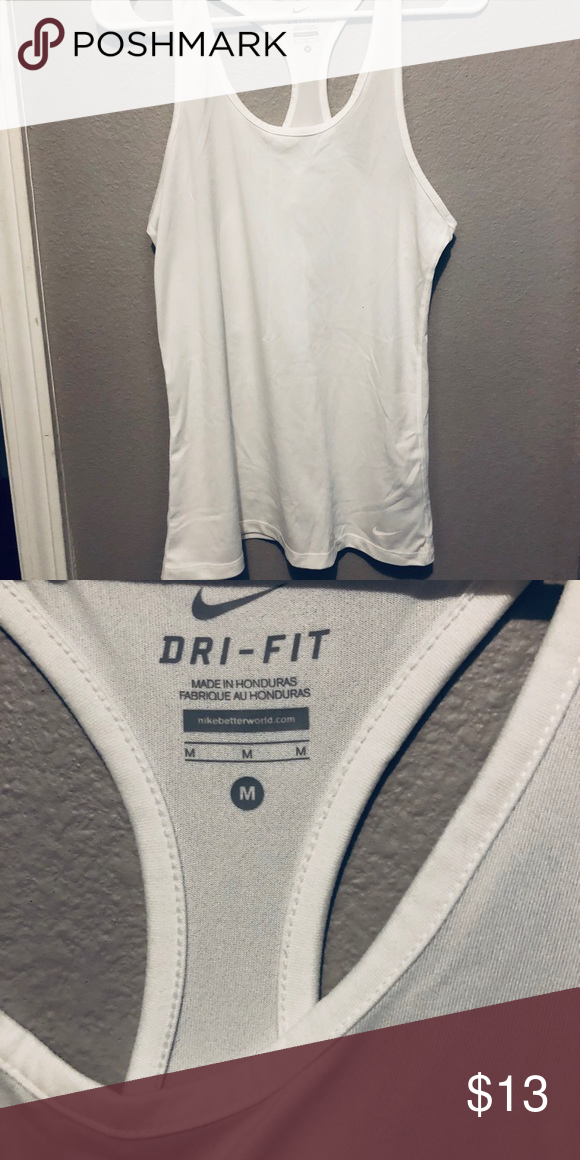 96b327a506171f Nike workout tank top Brand new never worn white nike tank top. Nike Tops  Tank Tops