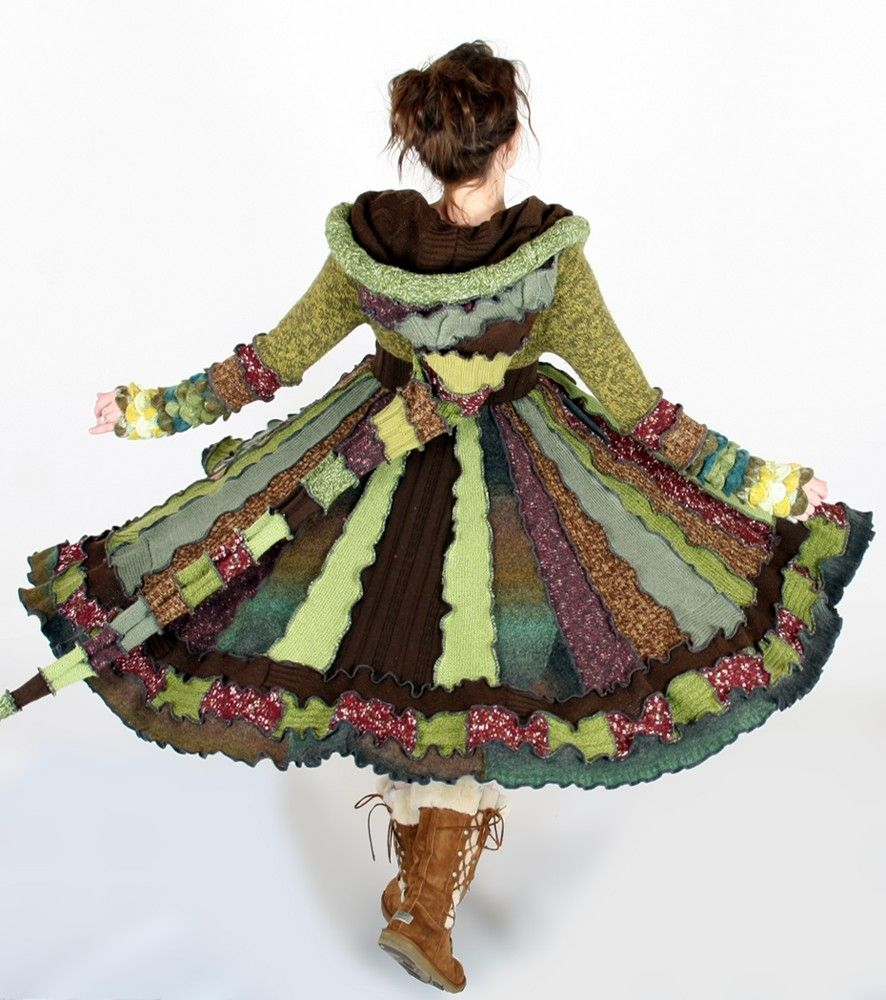 RESERVED for Gigi - One of a kind Forest Fairy Dream Coat by Enlightened Platypus -  Upcycled Elf Couture. $458.00, via Etsy.