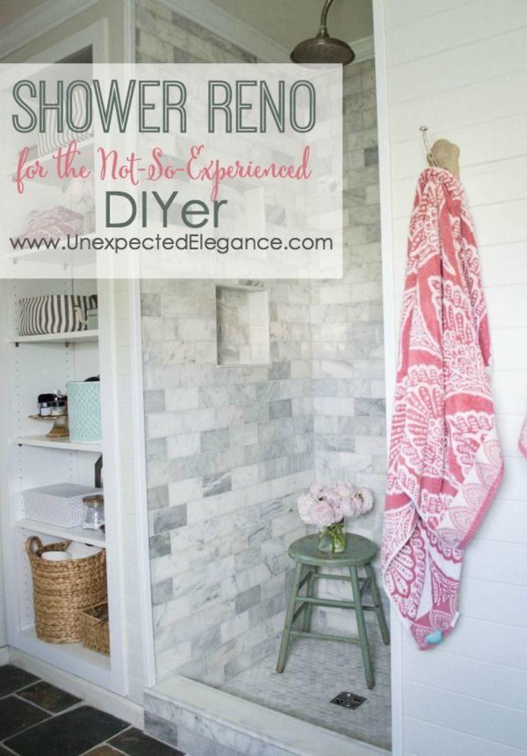 Diy shower renovation using an amazing system diy