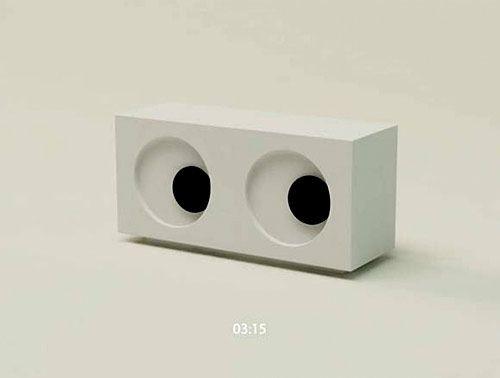 Eyeball Clock By Mike Mak