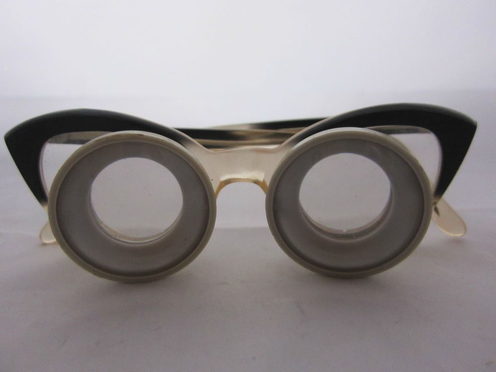Vintage Keeler Loupe Lens Cats Eye Glasses Magnifier Jewellery Watches Retro