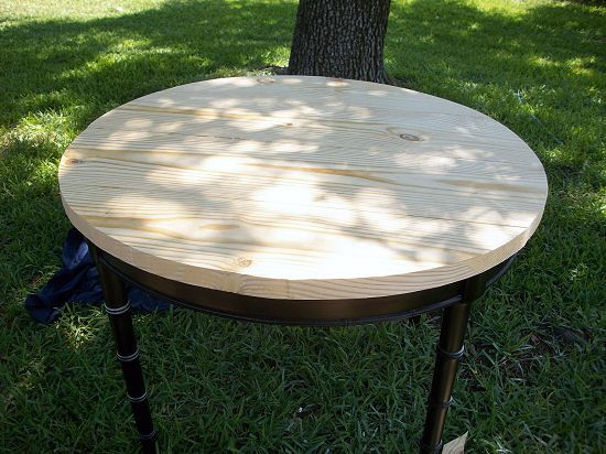 Diy Project Accent Furniture How To Make A Cheap Solid Wood Table Top Out Of Inexpensive Lumber Diy Patio Table Round Patio Table Solid Wood Table Tops