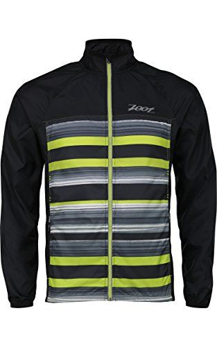 ZOOT SPORTS Mens Wind Swell Jacket Large BlackSpring Green