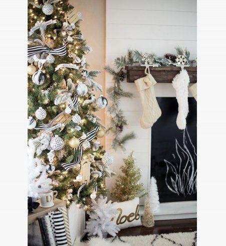 Déco de Noël : une intérieur blanc