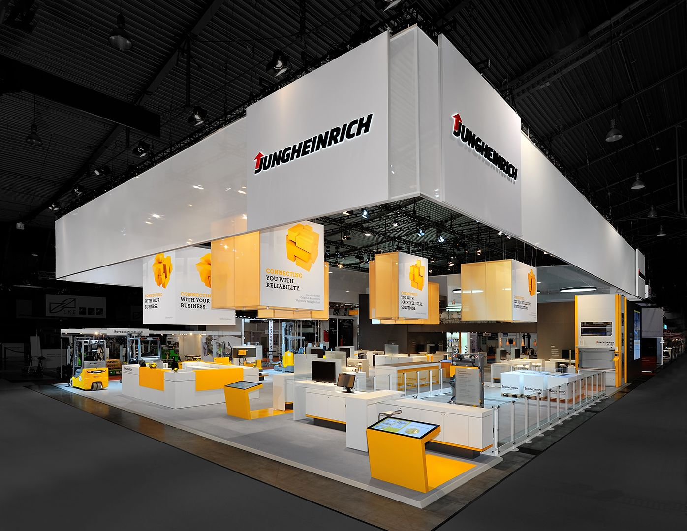 D Exhibition Booth Design Software : Jungheinrich größter aussteller auf der logimat walbert