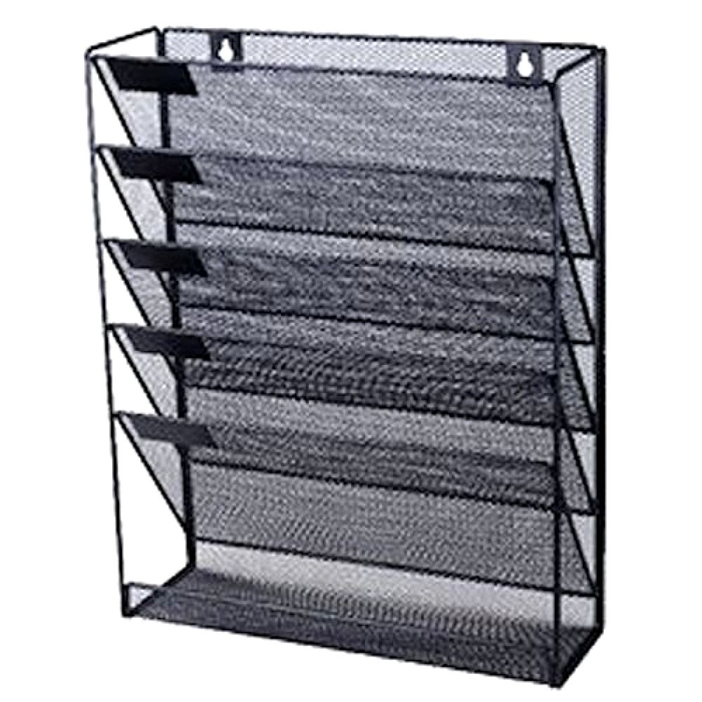Office Files Organizer Wall Mounted A4 Paper Document Holder Mesh Letter  Storage