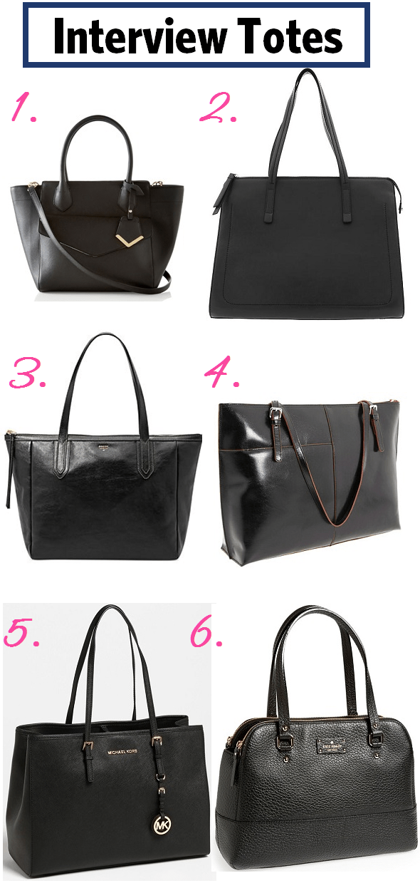 Hunting for a stylish  interview  tote  We round up six great ones  available on the market now. db1bd5ecd1