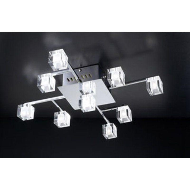 PLC Lighting 36652 PC 9 Ceiling Light Doro Collection
