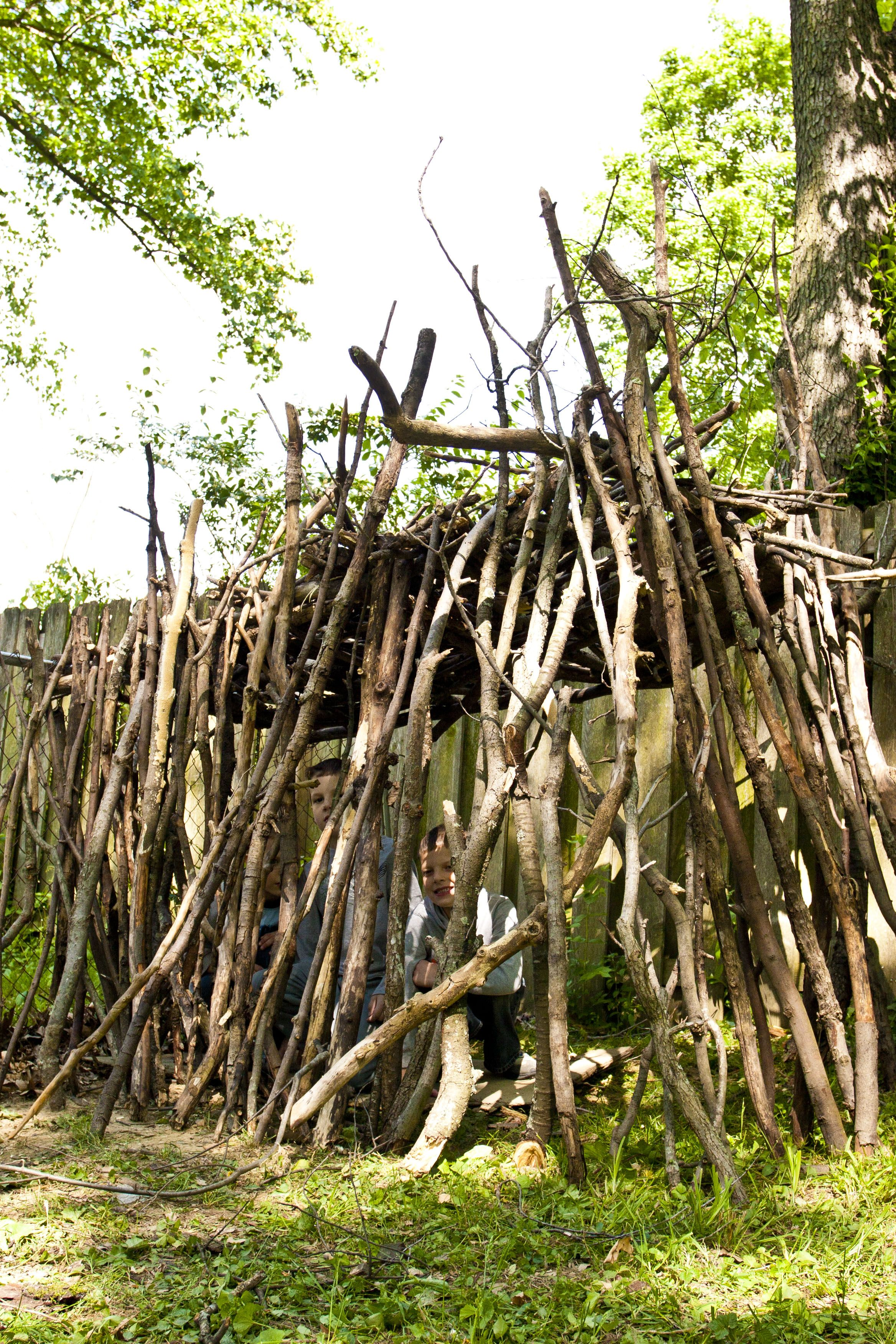 build a fort with sticks - Google Search
