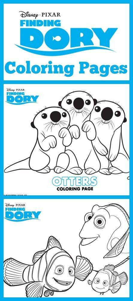 Finding Dory Coloring Sheets All Things Disney Finding