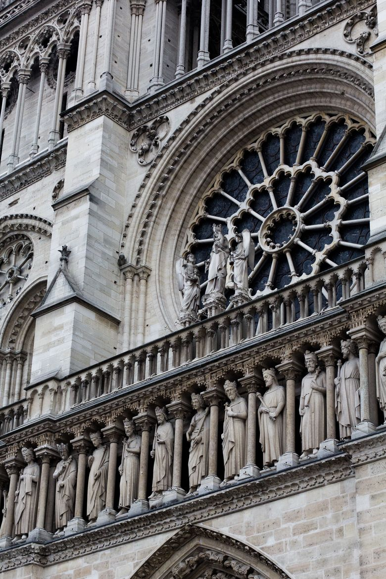 Rose Window Of Notre Dame Paris The Details On This Church Is Gothic ArchitectureRose