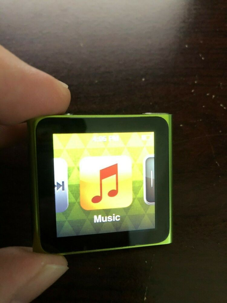Details About Apple Ipod Nano A1366 8gb 6th Generation 1 54 Multitouch Clip Green In 2020 Green Item Ipod Touch 6th Apple Ipod Touch