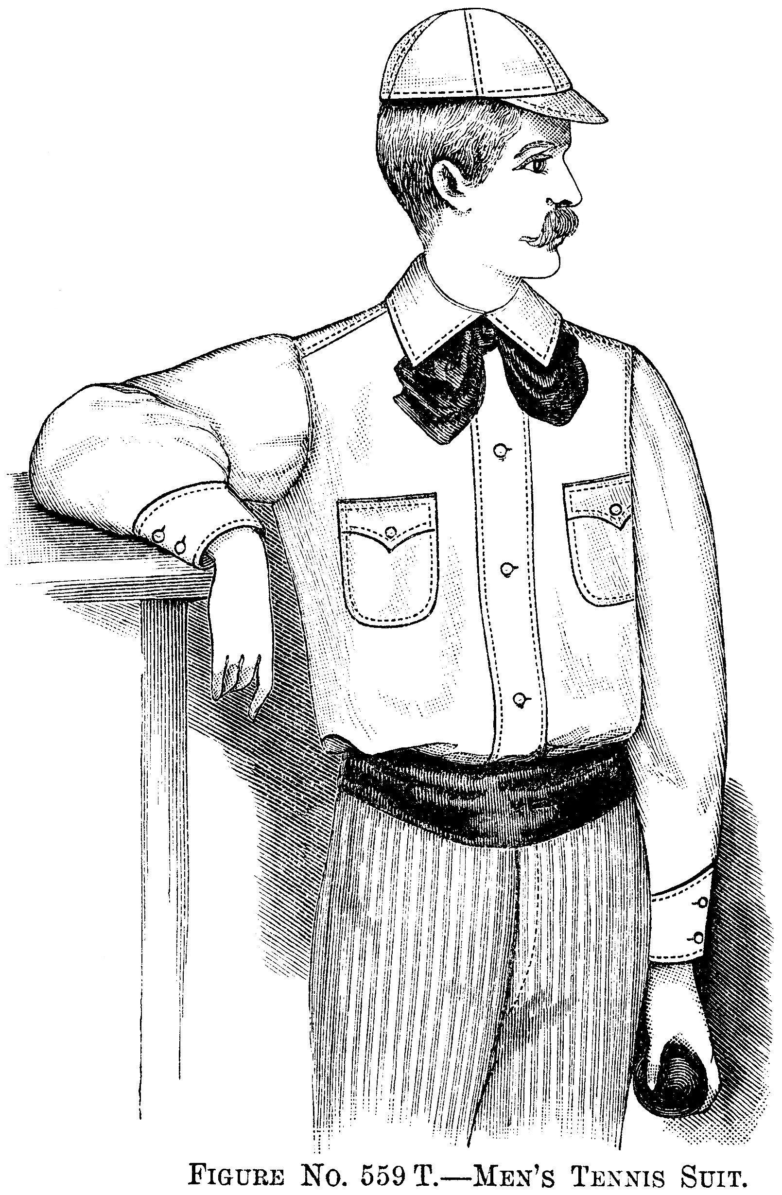 Moustache Man, Victorian Fashion, Vintage Tennis Suit, Black And White