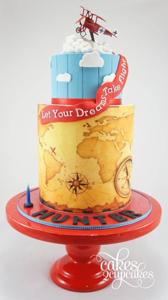 Cakes 2 Capacakes Vintage Plane Themed 1st Birthday Cake