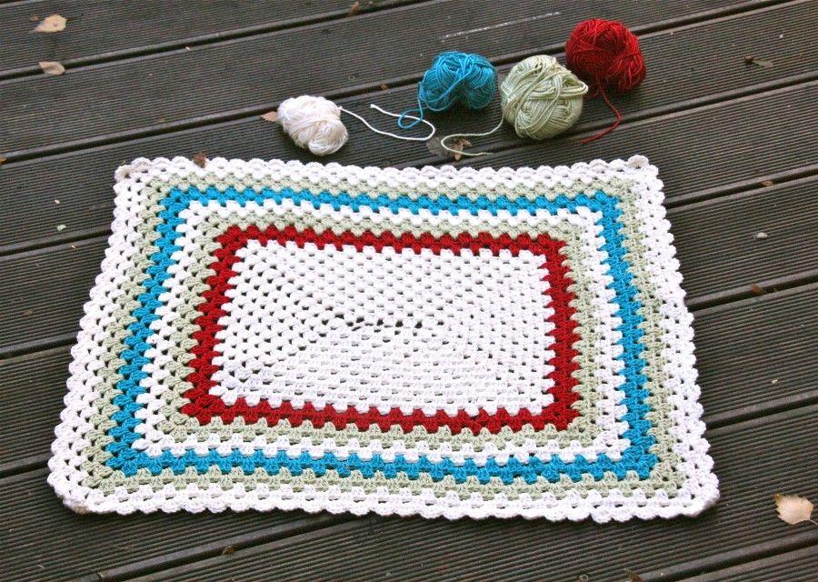 Badematte häkeln | Wolle_Häkeln / Crochet | Pinterest | Badematte ...