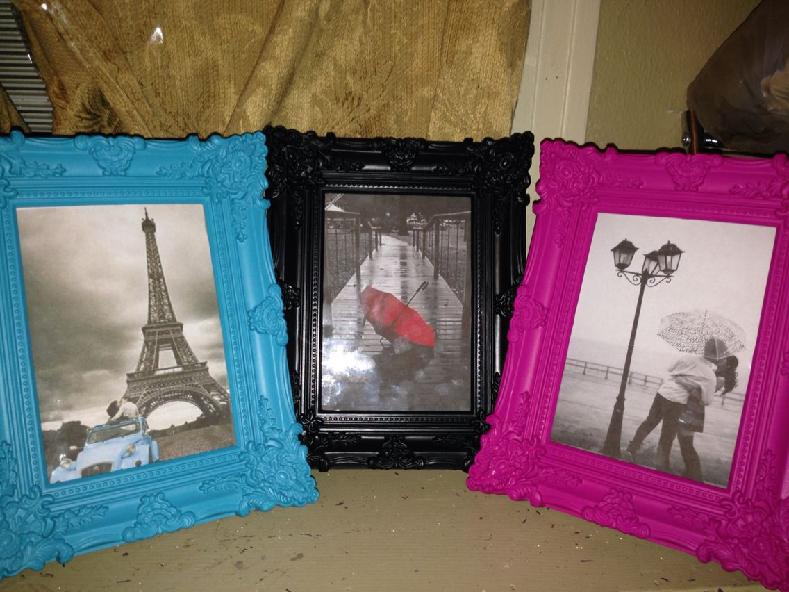 Found these elegant picture frames with lots of colors to choose found these elegant picture frames with lots of colors to choose from the dollar tree for jeuxipadfo Choice Image
