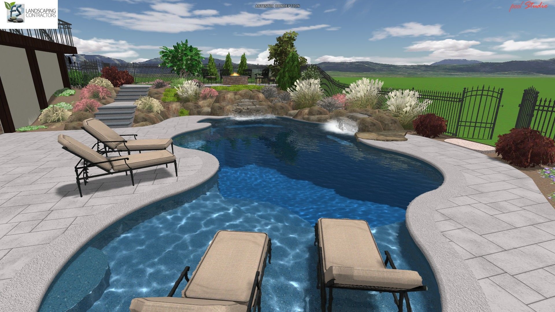 from custom shaped gunite pools to fiberglass pools they are the one stop shop for - Gunite Pool Design Ideas