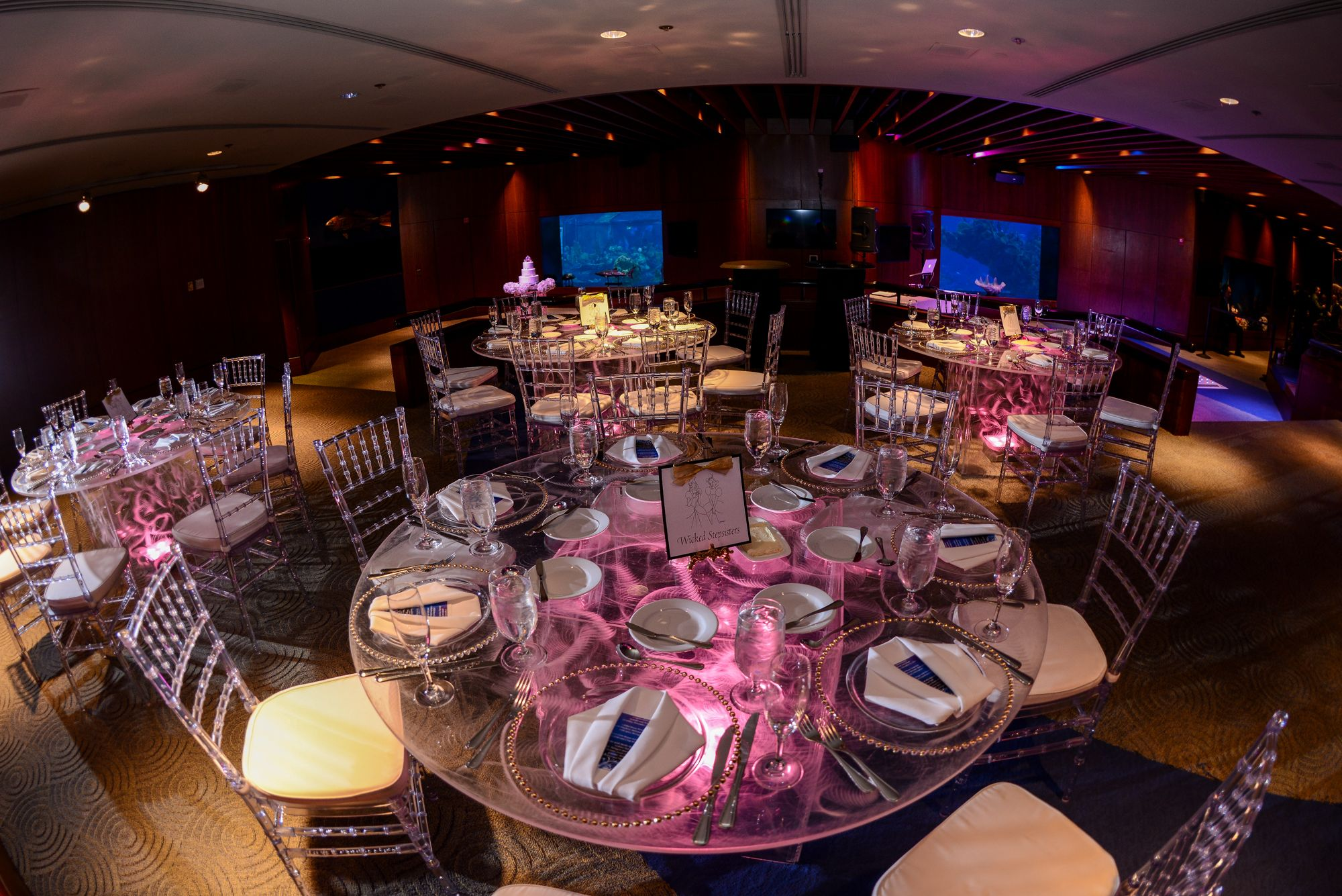 Glow Tables brighten up your reception at epcot's the living seas salon with