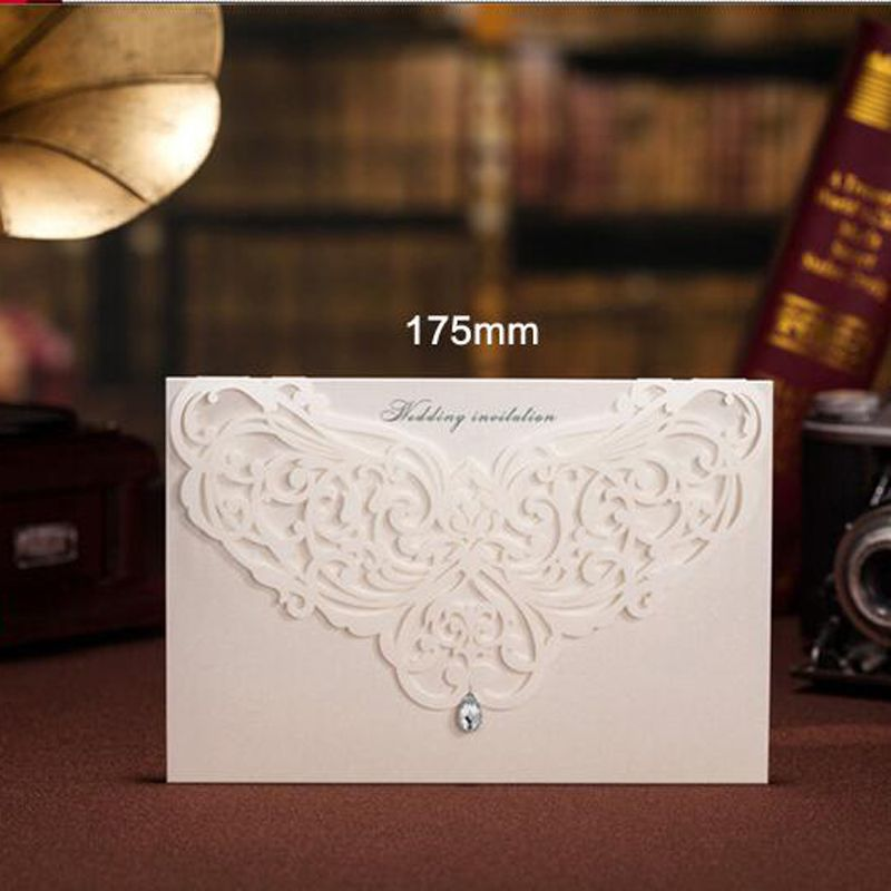 diamond wedding invitations%0A  pcs Sample White Laser Cut Luxury Wedding Invitations Card Elegant Diamond  Free Envelopes Seals Wedding Event