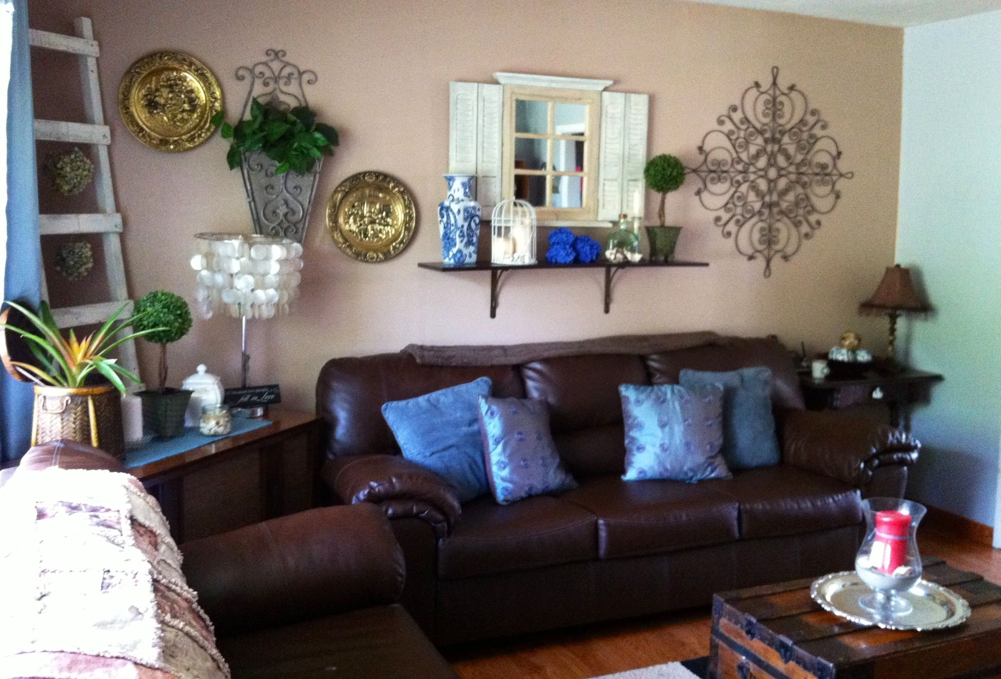 Blue And Brown Living Room Ideas - Zion Star